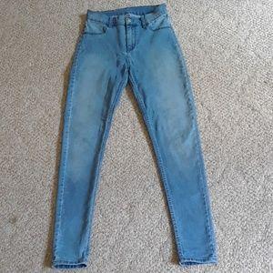High waisted skinny jeans sz 28